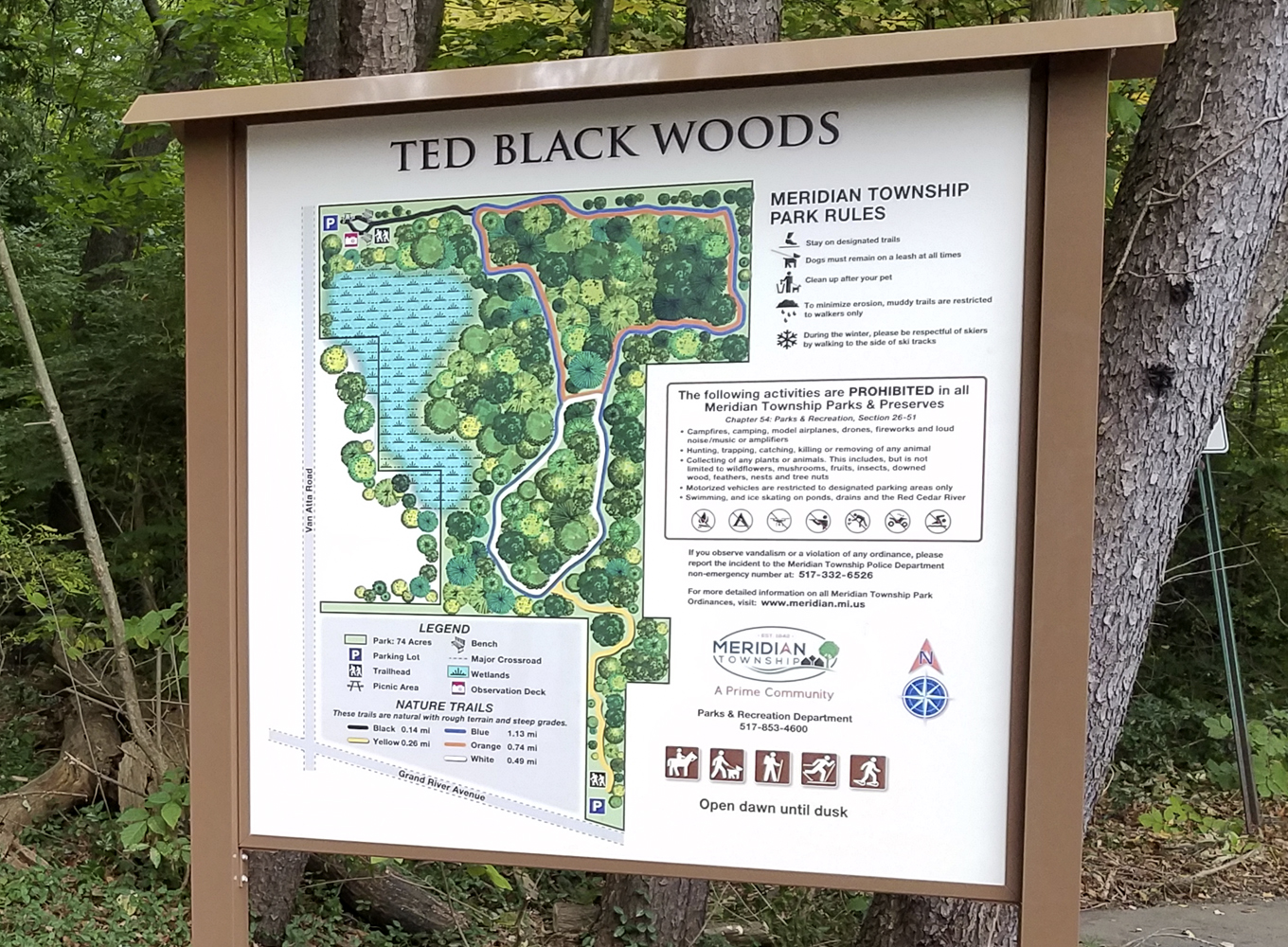 Ted Black Woods Sign