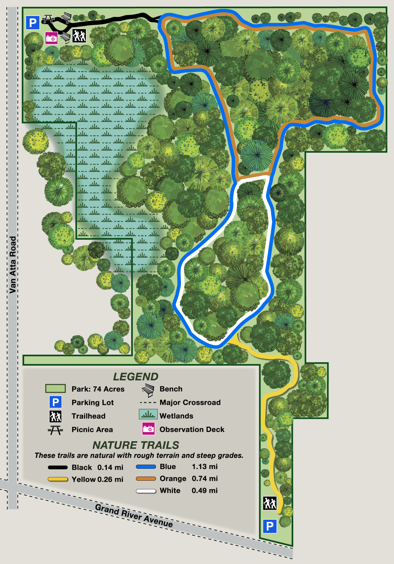 Ted Black Woods Trail Map