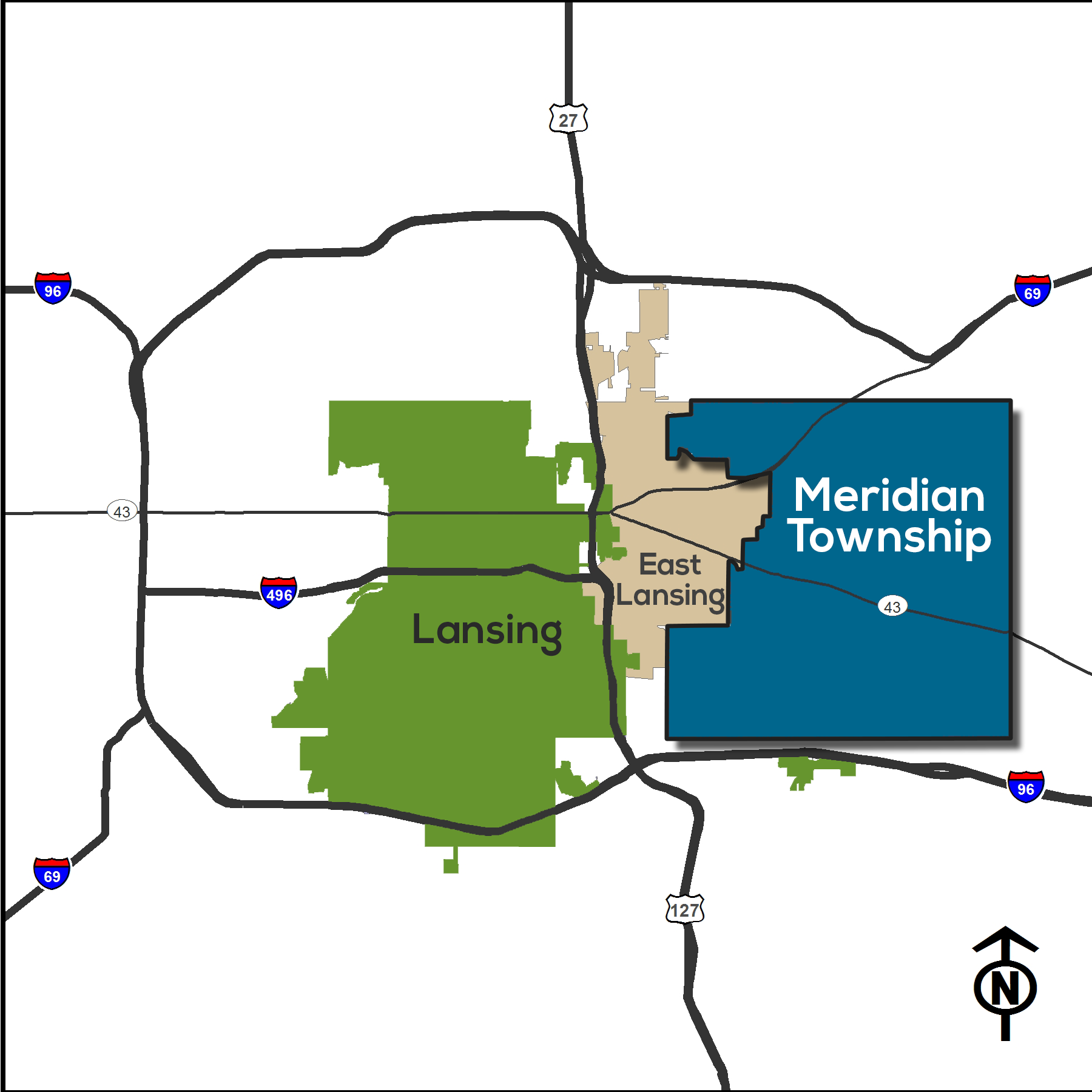 Meridian Township regional map