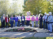 Meridian Garden Club Hosted Plant it Pink Garden Dedication