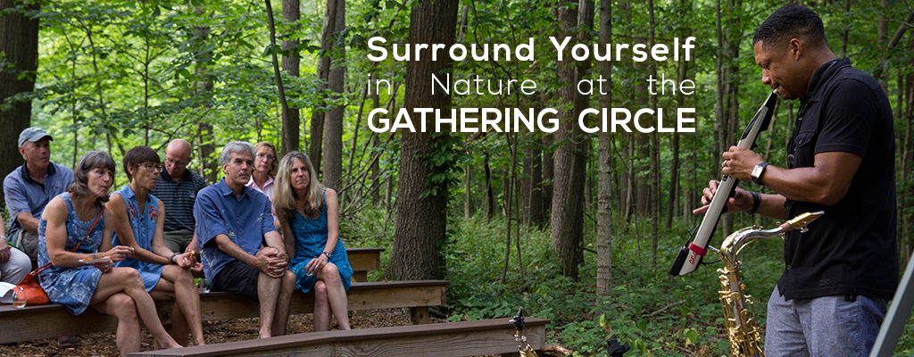 Surround Yourself in Nature at the Gathering Circle in Harris Nature Center