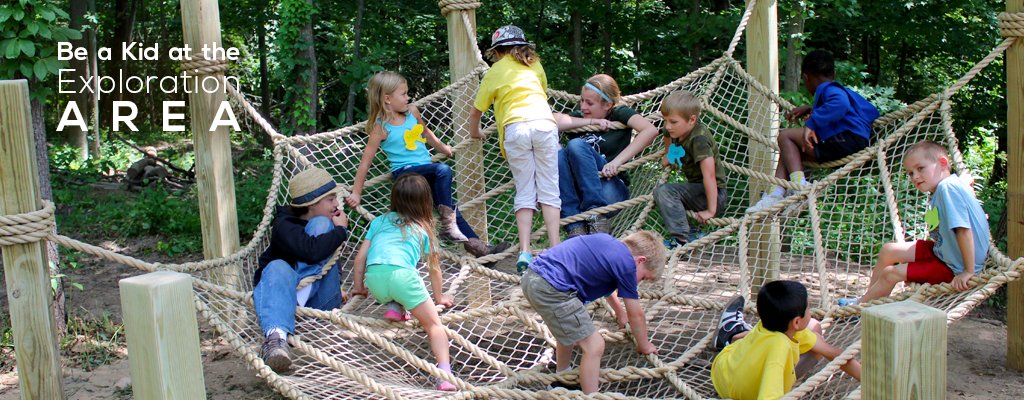 Be a Kid at the Exploration Area in Harris Nature Center
