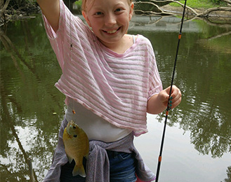 Fishing at Harris Nature Center Camps