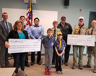 2019 Pancake Breakfast Check Presentation news item