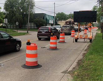 Lane Closures at Okemos and Hamilton Road Intersection