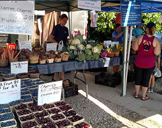 Cooling Areas Available During Saturday's Farmers' Market