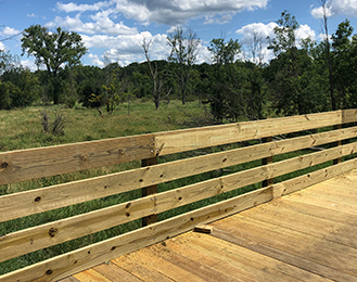 Okemos Road Boardwalk Nearing Completion