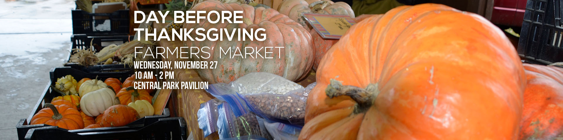 Pre-Thanksgiving Farmers' Market Sale