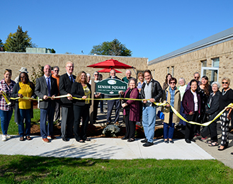 Meridian Senior Center Courtyard Ribbon Cutting Ceremony