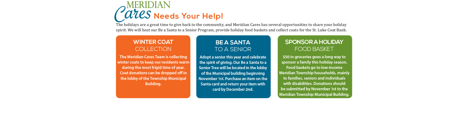Meridian Cares Holidays