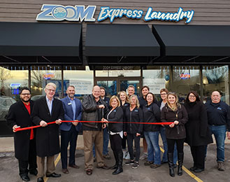 Zoom Express Laundry Ribbon Cutting Ceremony