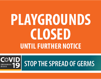 COVID 19 PLAYGROUNDS CLOSED news item