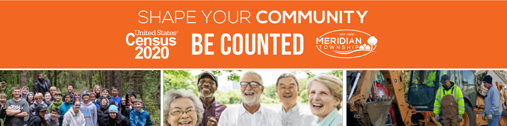 Census 2020 Shape Your Community homepage banner
